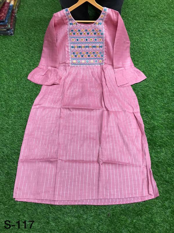 Non Catalog Jaipuri Cotton Anarkali Kurtis