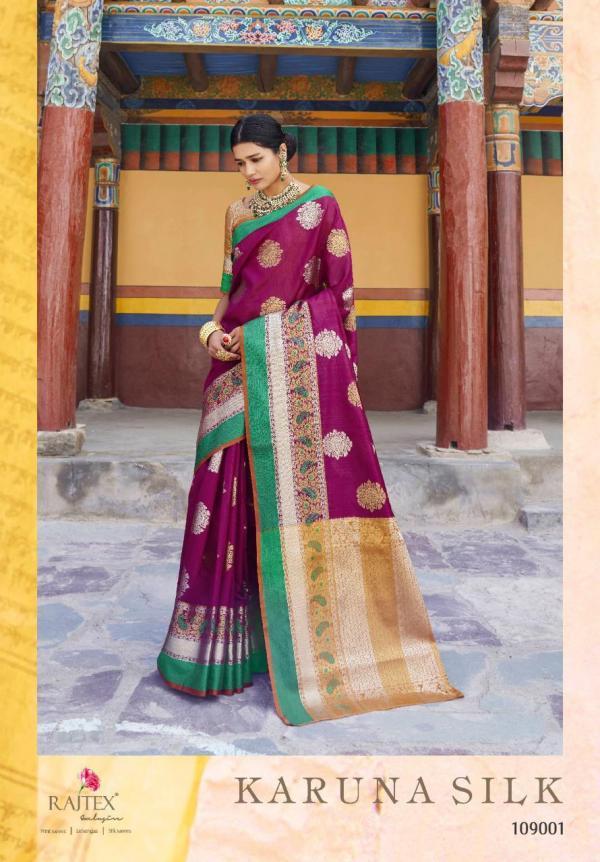 Rajtex Karuna Silk 109001-109010 Series