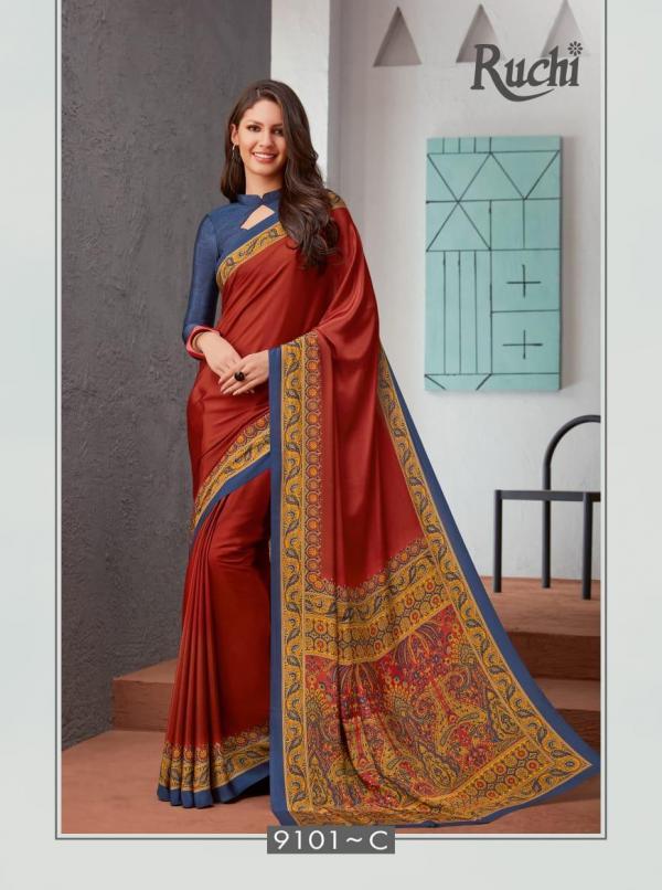Ruchi Sarees Virasat Silk 9101C-9109A Series