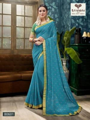 Triveni Saree Raina 80601-80608 Series