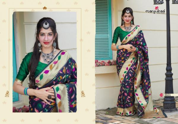Manjubaa Manyata Silk 3601-3606 Series