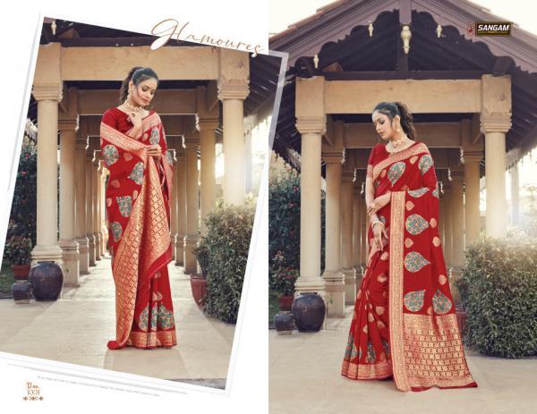 Sangam Saree Plazzo Silk 1001-1006 Series