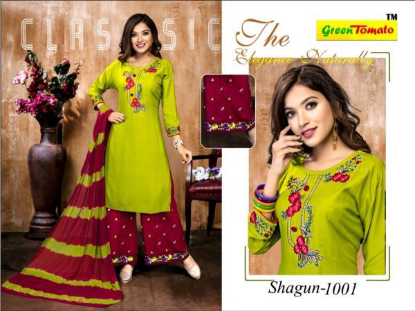 The Ethnic Studio Shagun Green Tomato 1001-1008 Series