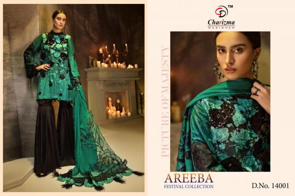 Charizma Designer Areeba Festival Collection 14001-14003 Series
