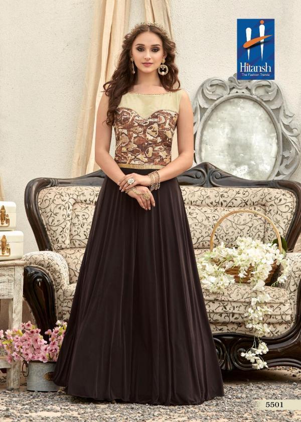 Hitansh Persia Designer Fancy Trendy Look Stylish Gown