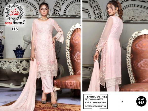 Affan Creation 115 Dress Material