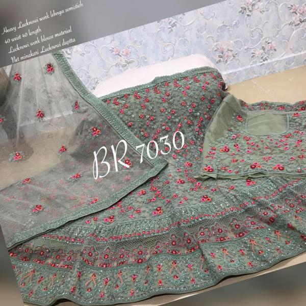 BR Lehenga Choli Lucknowi Work BR-7030 Colors