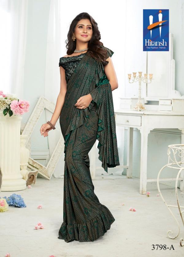 Hitansh Traditional Fancy Imported Fabric Designer Saree