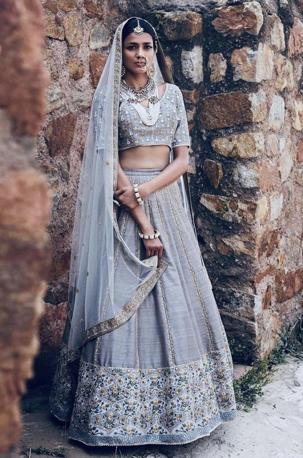 AF 2110 Designer Still Grey Wedding Lehenga Choli