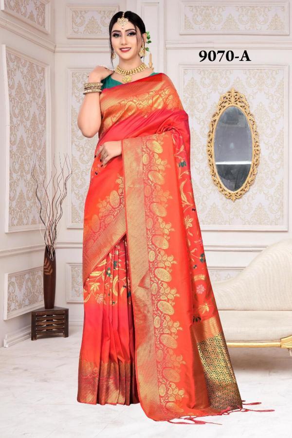 NP Saree 9070 Colors Pure Silk Sarees