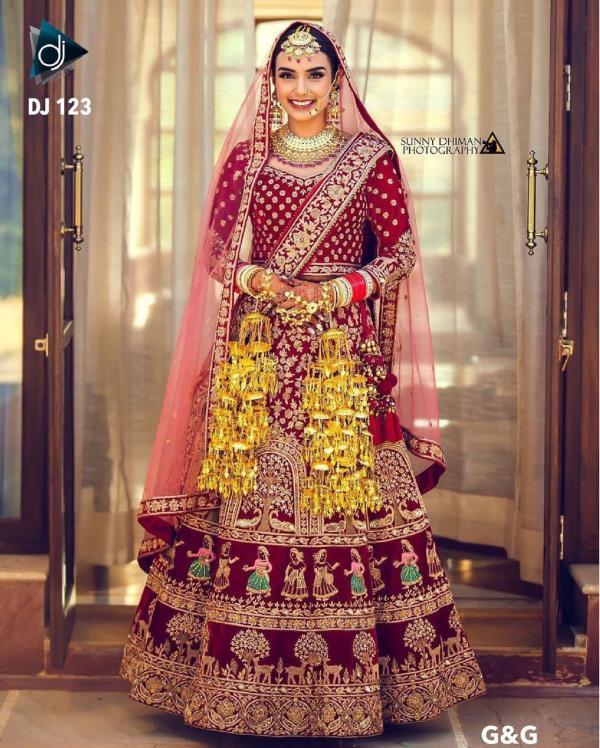 DJ Bridal Wedding Wear Lehenga DJ-123 Colors