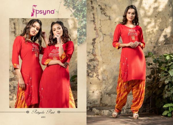 Psyna Patiyala Print Vol-4 4001-4010 Series