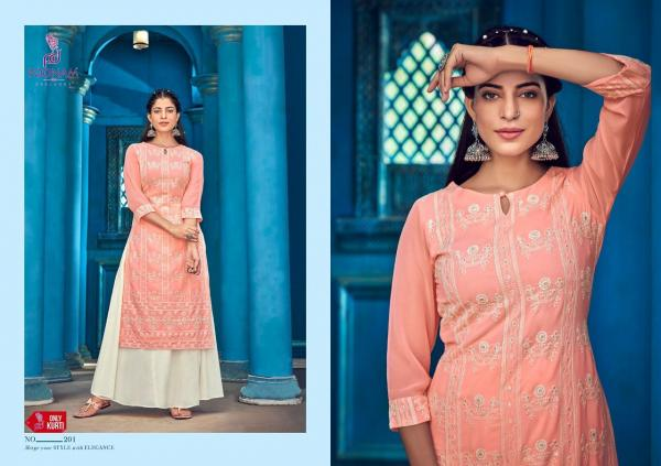 Poonam Designer Lucknowi Vol-3 201-206 Series