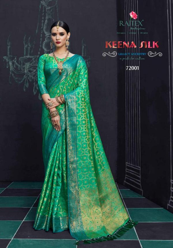 Rajtex Saree Keena Silk 72001-72010 Series