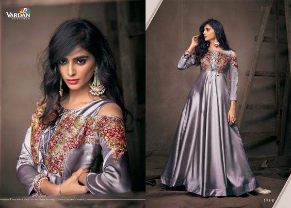 Vardan Designer Navya Gold 193 Colors Silk Gown