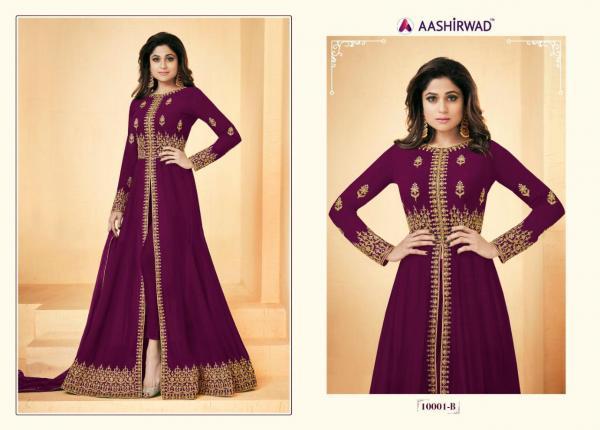 Aashirwad Creation Gulkand Shamita Color Plus 10001 Suits