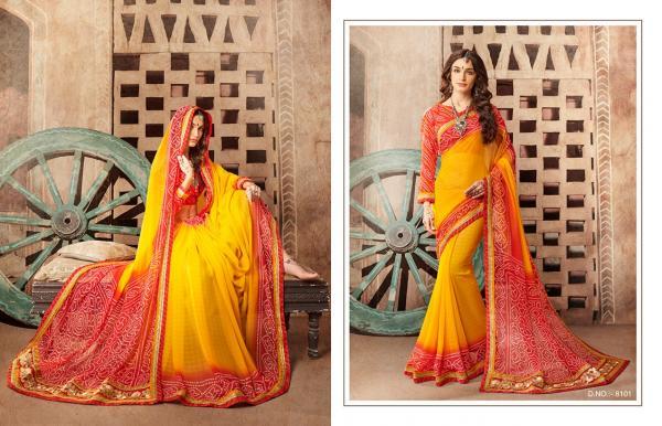 Kessi Fabrics Bandhej Vol 8 8101 8112 Series
