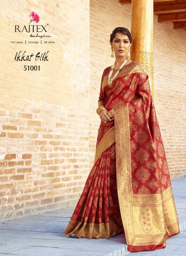 Rajtex Saree Ikkat Silk 51001 51010 Series