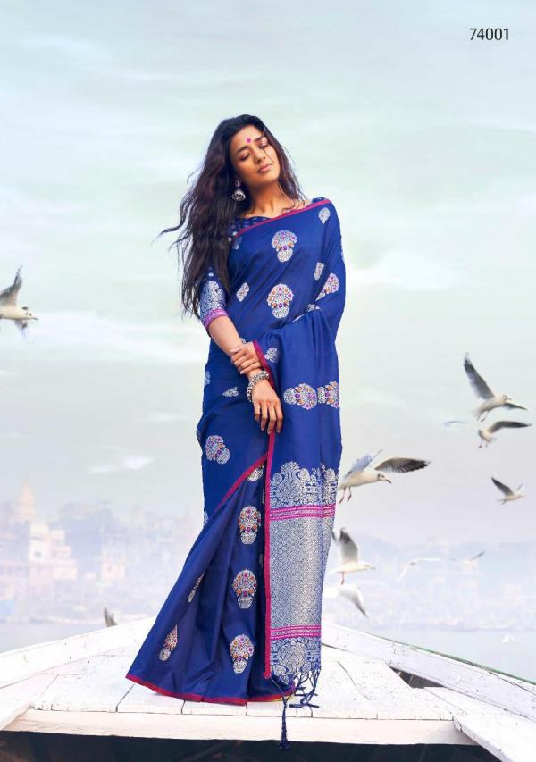 Rajtex Saree Kanthrishi Silk 74001-74010 Series