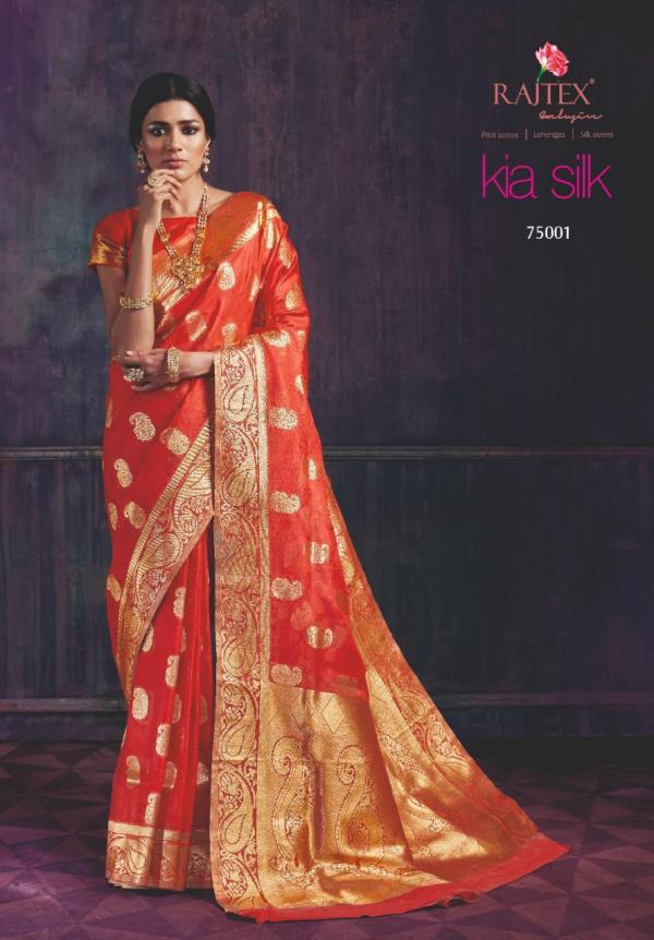 Rajtex Saree Kia Silk 75001-75009 Series