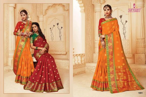 Sangam Prints Ganga Pally Handloom 1001-1008 Series