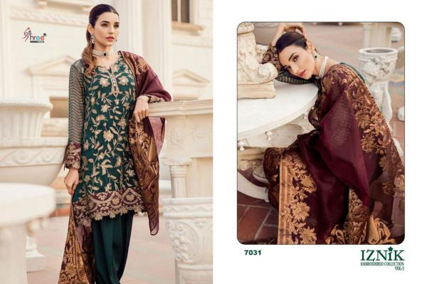 Shree Fabs Iznik Embroidered Collection Vol-3 7031-7038 Series