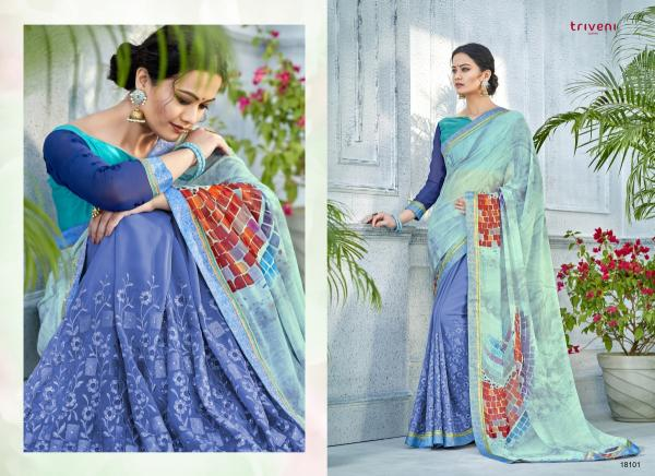 Triveni Saree Noor Vol-6 18101-18110 Series