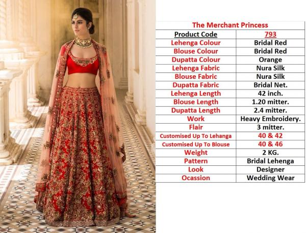 Designer Heavy Bridal Lehenga 793