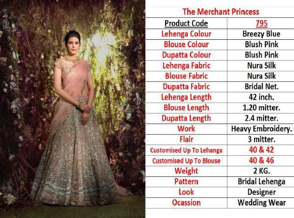 Designer Heavy Bridal Lehenga 795