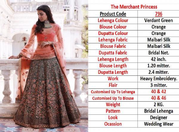 Designer Heavy Bridal Lehenga 796