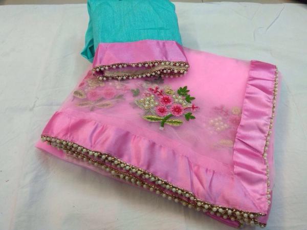 Designer Party Wear Premium Quality Embroiderd Saree