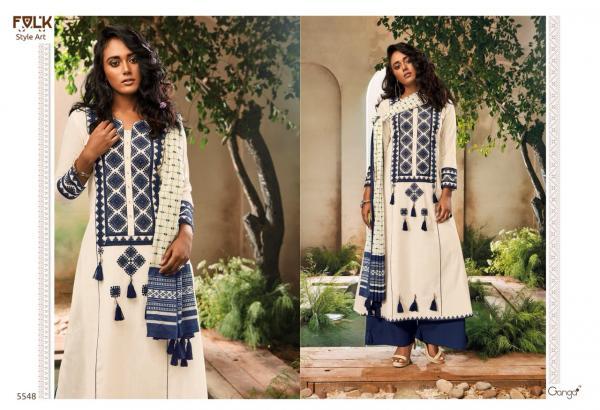 Ganga Folk Style 5548 5553 Series