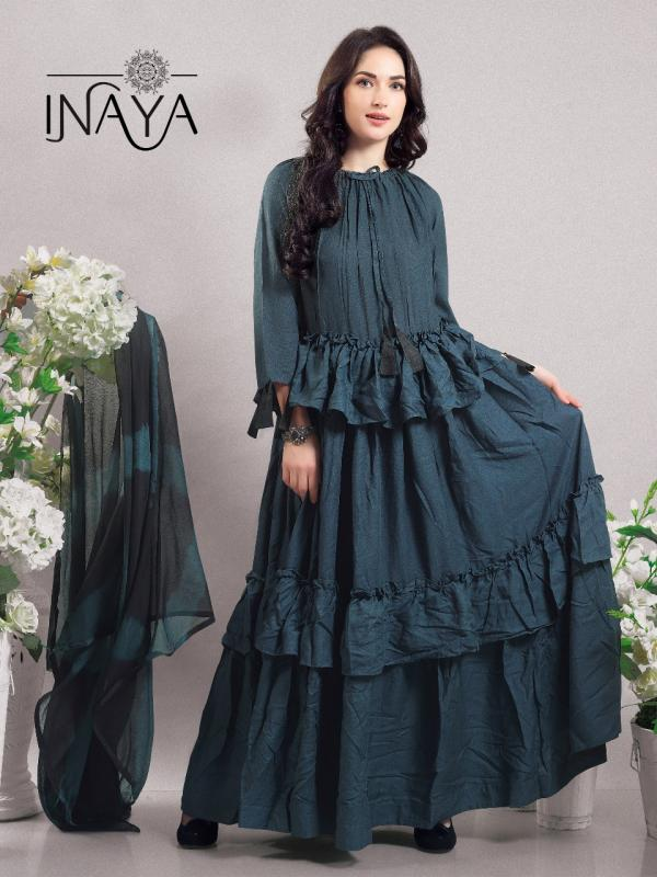 Inaya By Studio Libas K22 Princess Kurti Dupatta