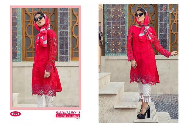 Shree Fabs Mariya B Lawn 18 Festival Collection Vol 2 1021 1028 Series