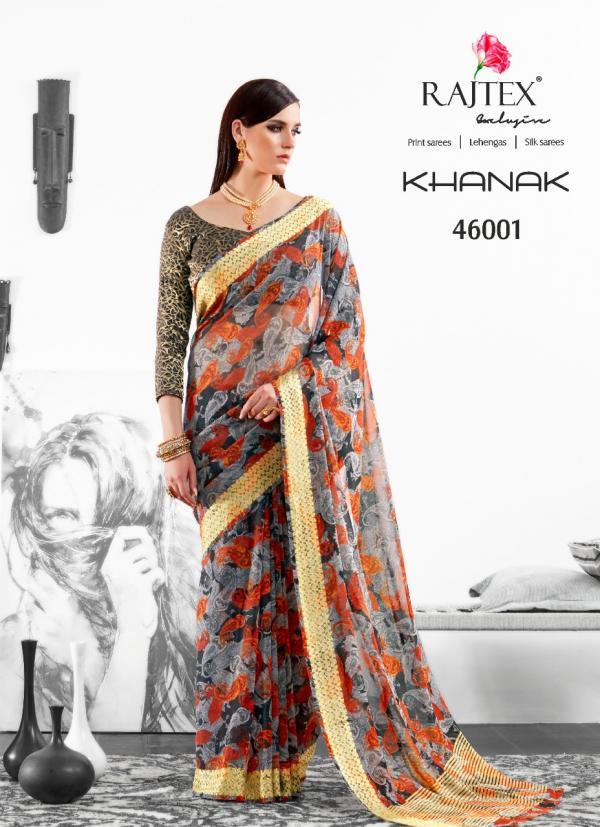Rajtex Saree Khanak 46001 46009 Series