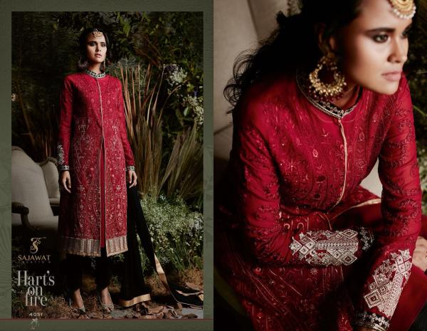 Sajawat Creation Taj Maria B Eid Collection 4051 4058 Series