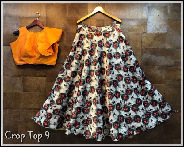 Designer Lehenga With Crop Top 9 12 Series