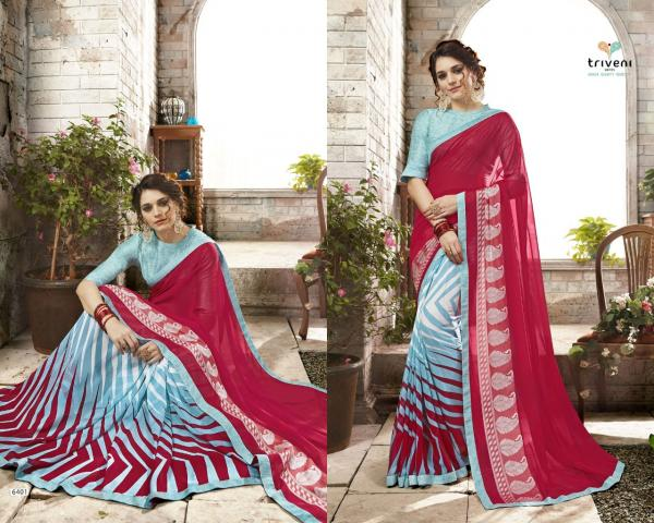 Triveni Sarees Rasya 6401 6411 Series