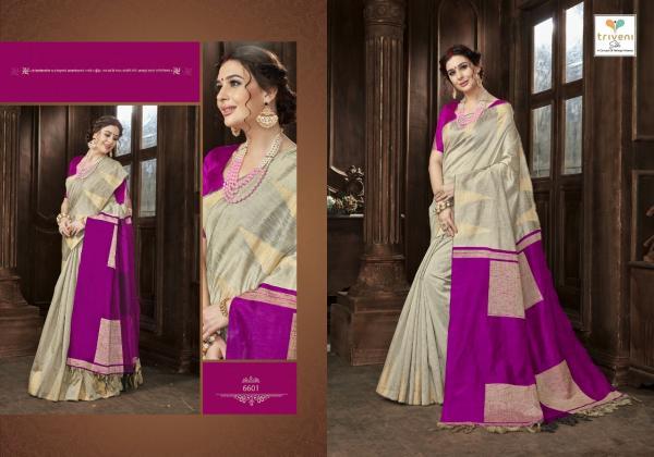 Triveni Sarees Sunaina 6601 6608 Series