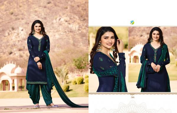 Vinay Fashion LLP Silkina Royal Crepe Vol 16 7441 7449 Series