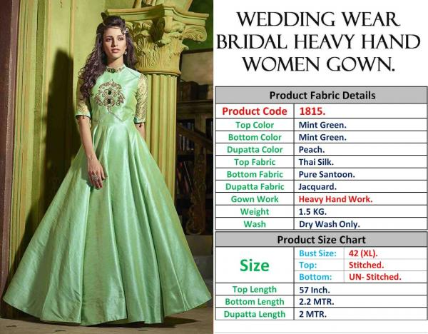 Wedding Wear Bridal Heavy Hand Women Gown 1815 & 5002