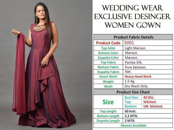 WEDDING WEAR DESIGNER EXCLUSIVE BRIDAL GOWN 5001