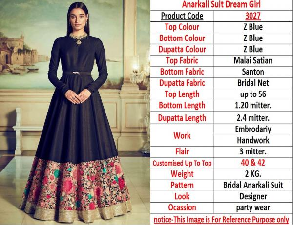 Anarkali Suit Dream Girl 3027