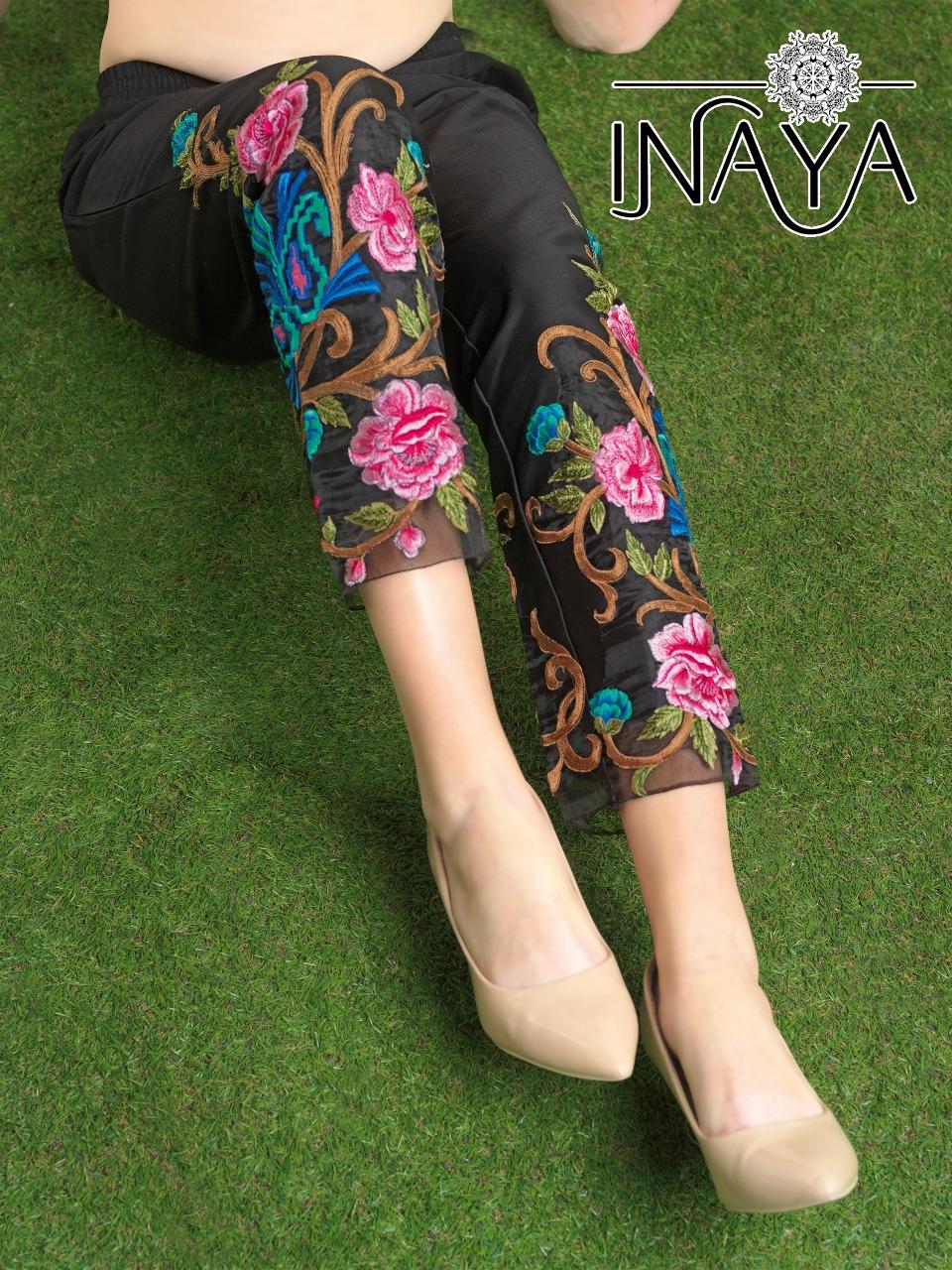 Inaya By Studio Libas Cigarette Pants Black