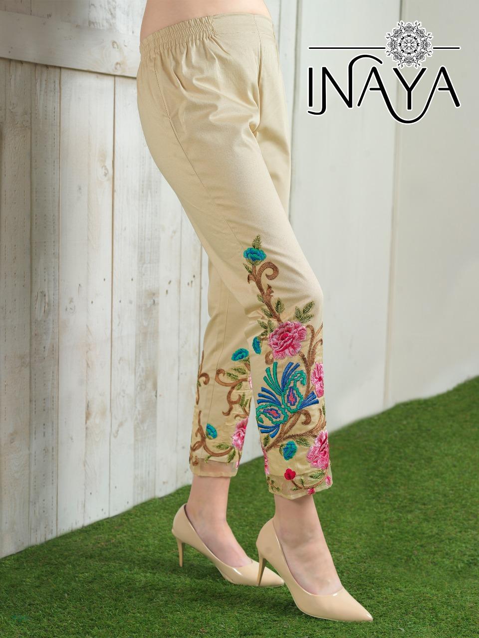 Inaya By Studio Libas Cigarette Pants Cream