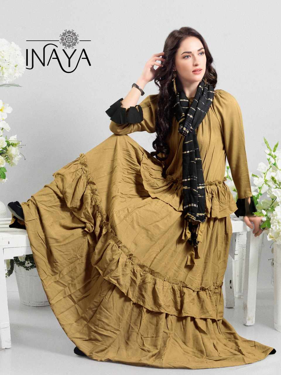 Inaya By Studio Libas K22 Military Brown