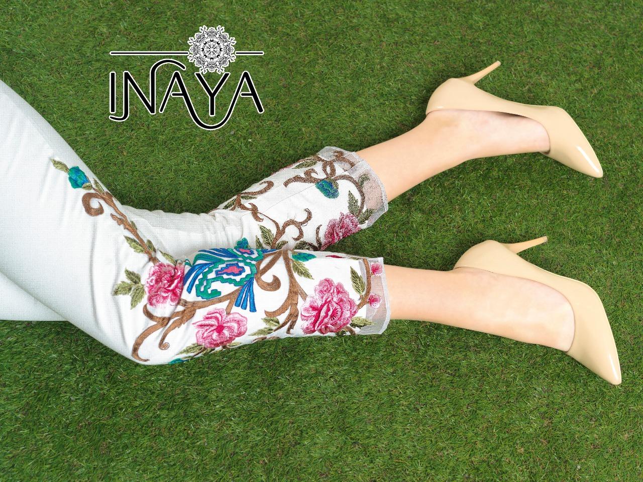 Inaya By Studio Libas Cigarette Pants White
