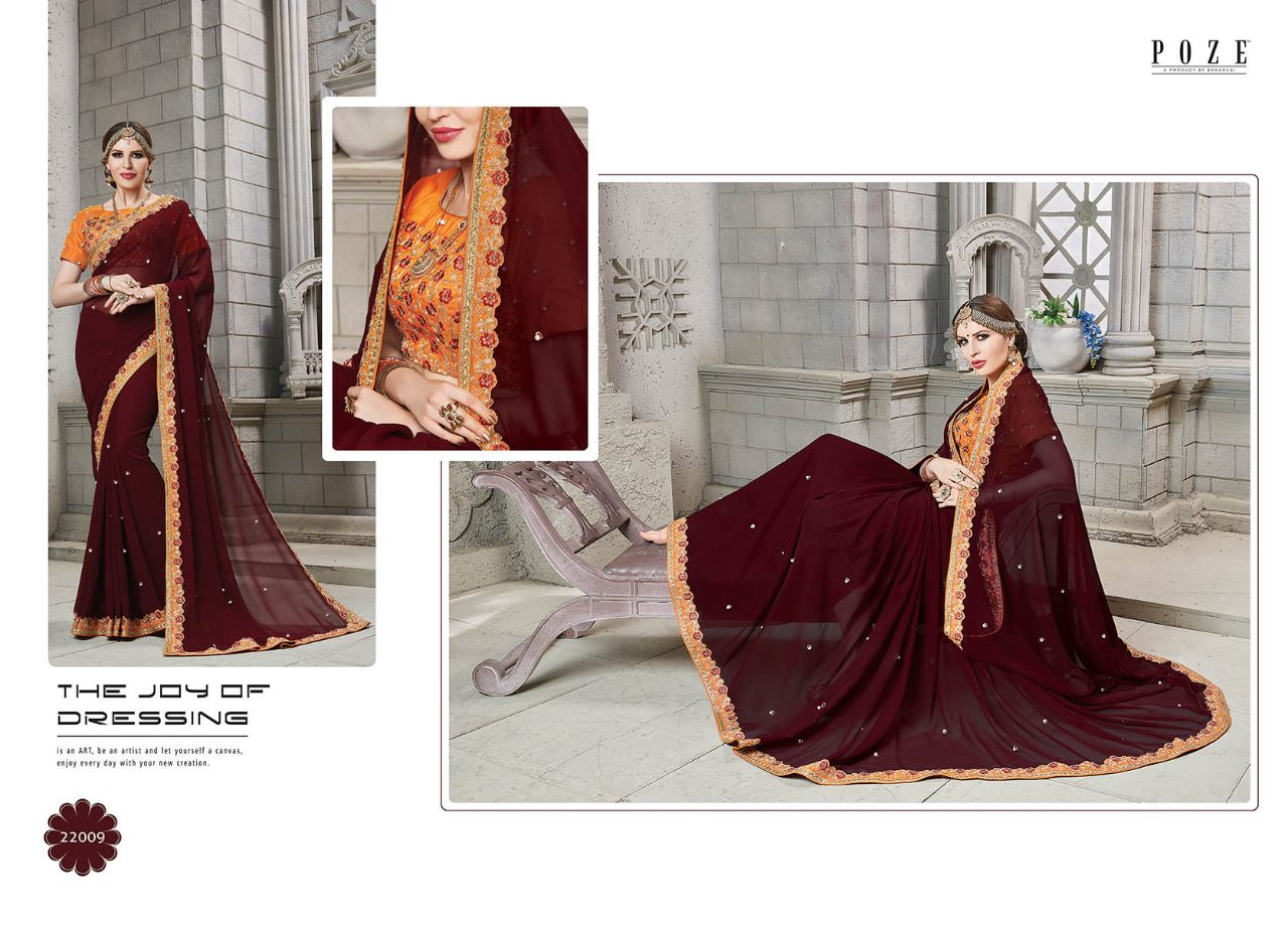 POZE Jenifer Designer Sarees 22009