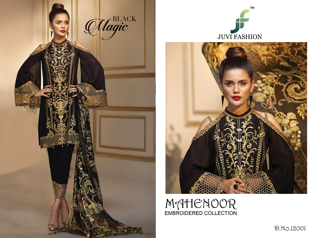 Juvi Fashion Mahenoor Embroidered Collection 12001