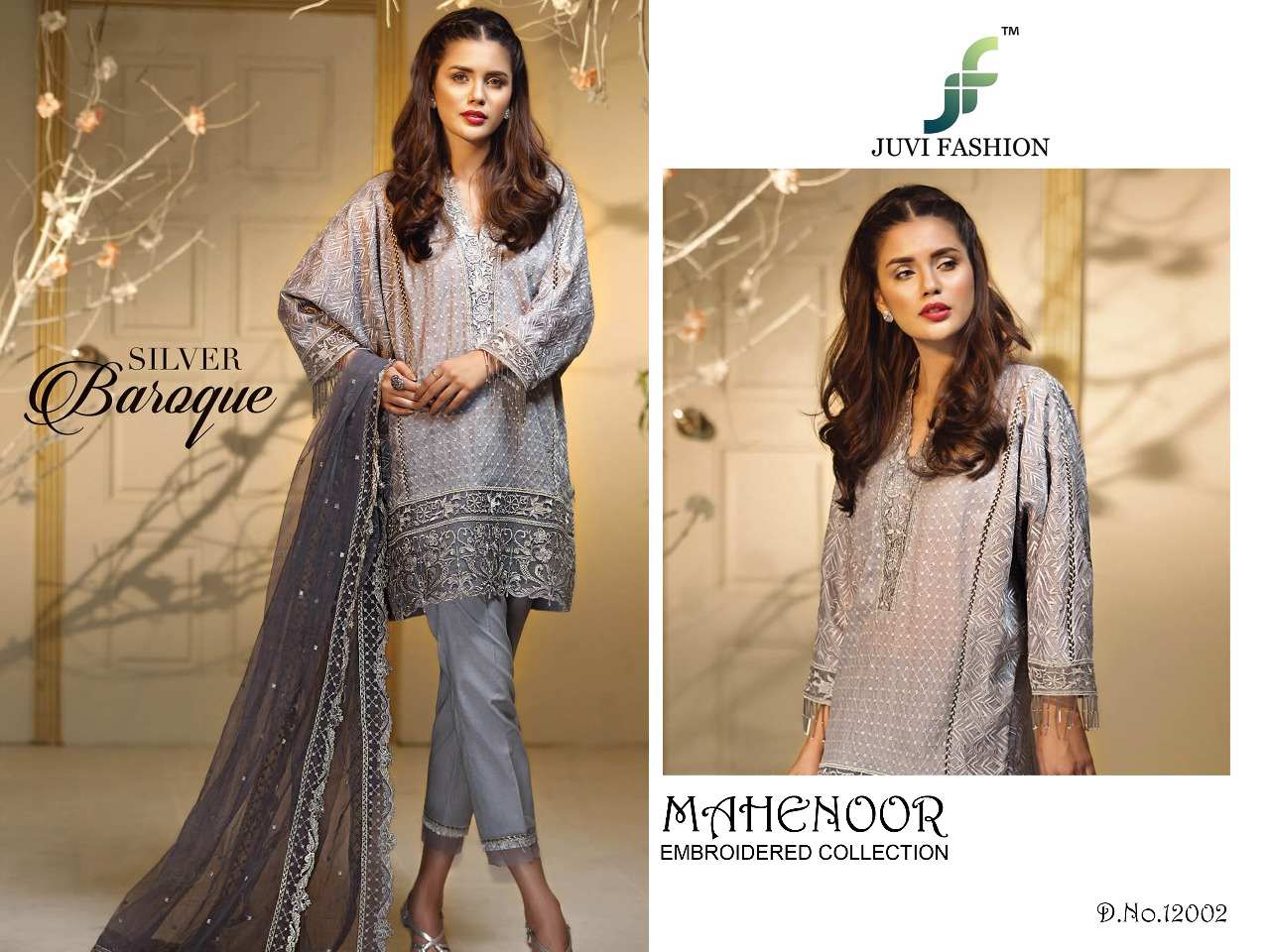 Juvi Fashion Mahenoor Embroidered Collection 12002